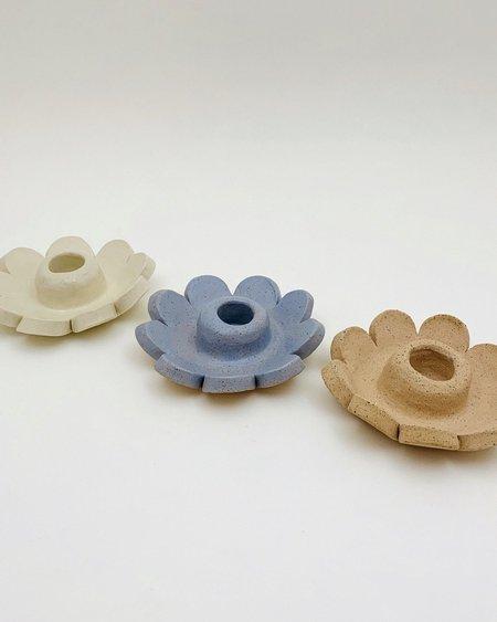 Meha Ceramics Flower Candle Holder