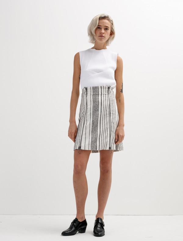 Etienne Deroeux Womens Leona Zip Skirt