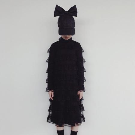 Kids Caroline Bosmans Broderie Dress - Black