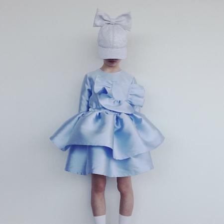 Kids Caroline Bosmans Layered Dress - Glossy Blue