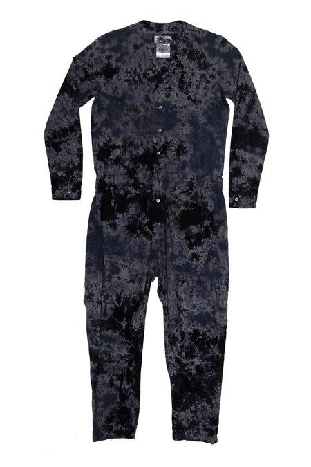 Unisex SEEKER Jumpsuit - Tri-Color Black Indigo Tie Dye