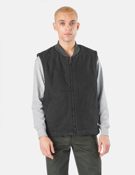 Dickies Sherpa Lined Duck Vest - Black