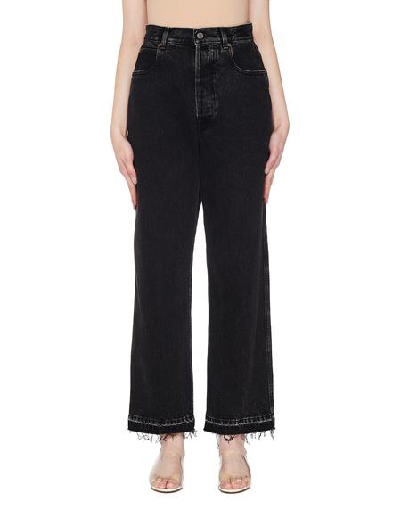 Golden Goose Black Jeans With Raw Hem