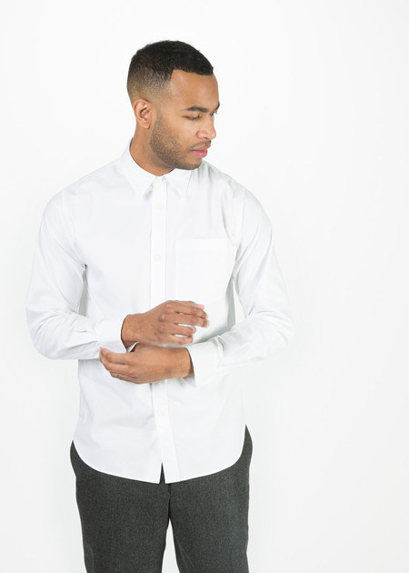 Men's Margaret Howell Classic Single Pocket Oxford Shirt