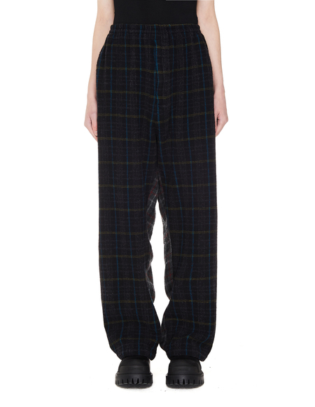 Undercover Wool 50/50 Checked Trousers