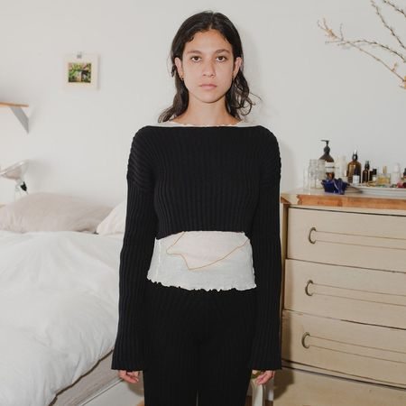 Baserange Cropped Macau Sweater - Black