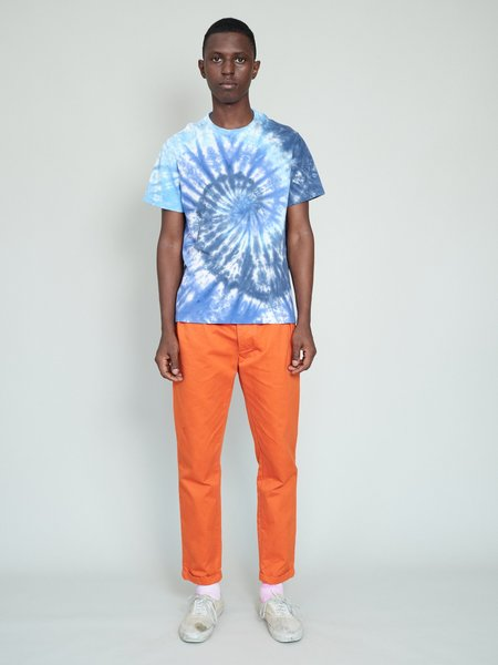 Magill Harris Garment Dye Pleated Chino - Orange