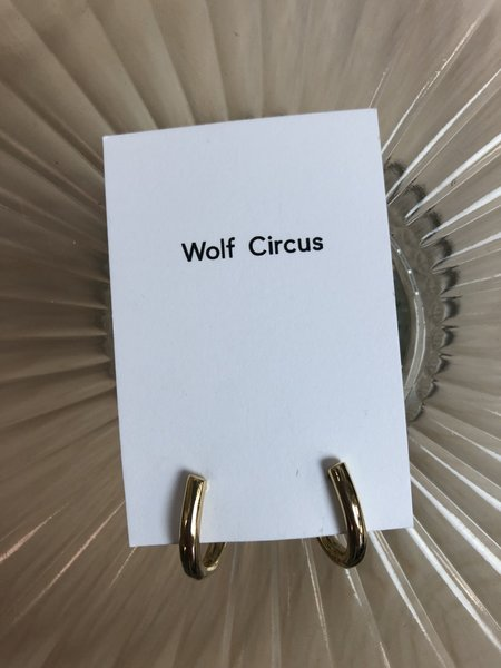 Wolf Circus Gold Plated Hoops