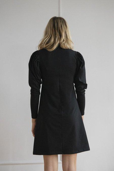 Rightful Owner Jersey Puffed Dress - Noire