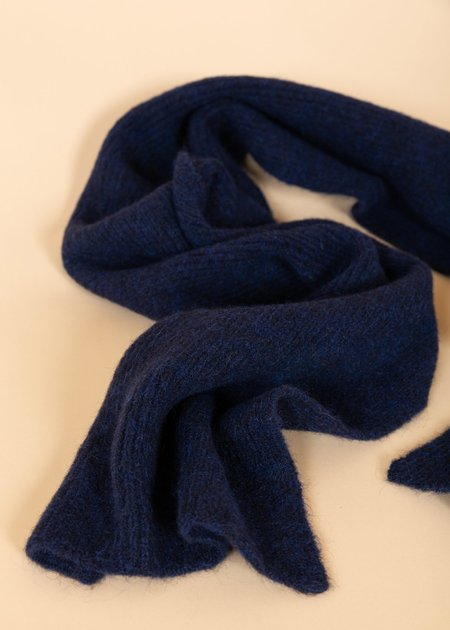 Homecore Baby Alpaca Wool Scarf - Dark Navy