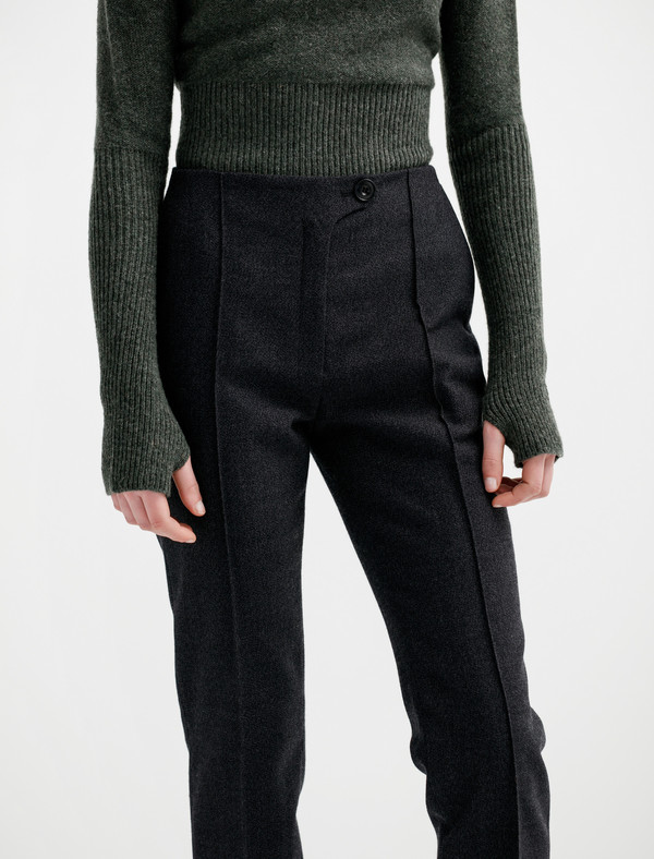 Lemaire Straight Trousers Thornproof Wool