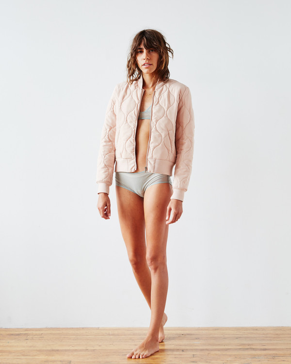 PIECE NYC Luxe Bomber - Pink