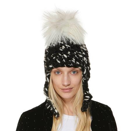 Mischa Lampert store XL pom blend nolita one pom beanies - Arctic white/black/white