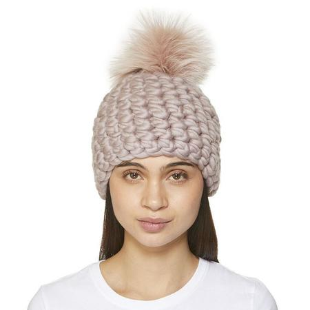 Mischa Lampert  XL pom fawn pomster beanie - Arctic pink