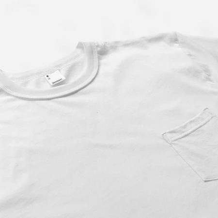 3Sixteen Pima Cotton Pocket T Shirt - White