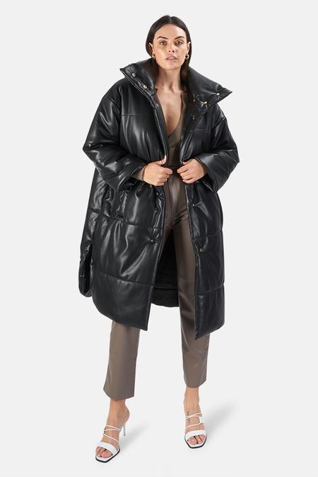 Nanushka Eska Puffer Coat - Black
