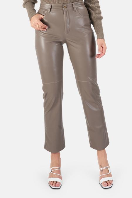 Nanushka Vinni Vegan Leather Pants - Clay