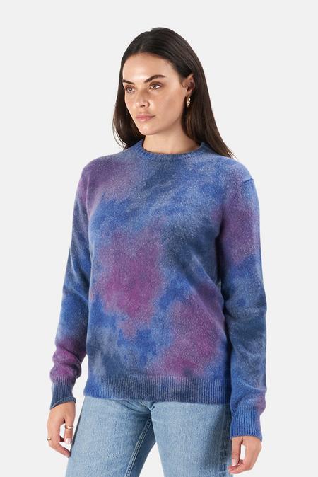 Harden Ice Dye Crew Sweater - Blue/Lilac