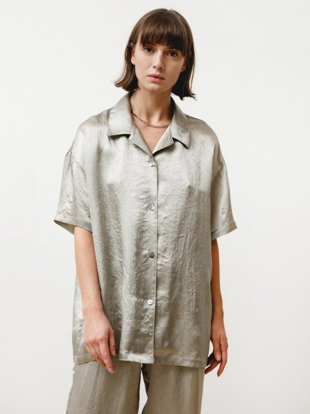 Priory Edition Shirt - Crushed Slinky Silver