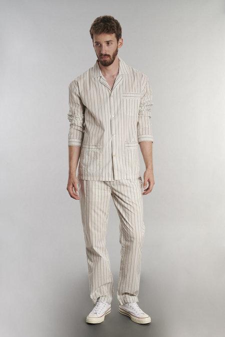 Delikatessen Pyjama Striped Cotton Trousers