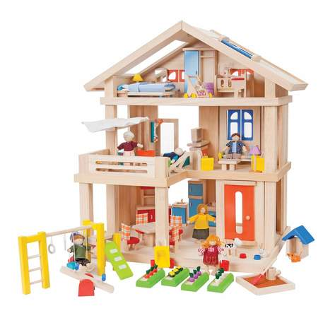 kids plantoys terrace dollhouse set toy