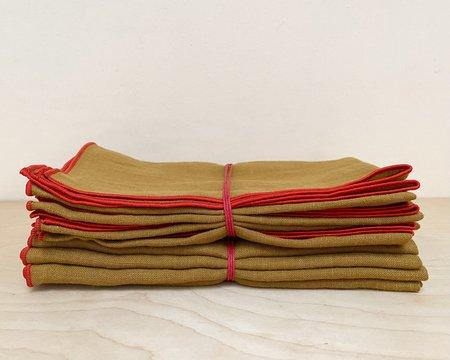 Madre Linen Napkins - Gold