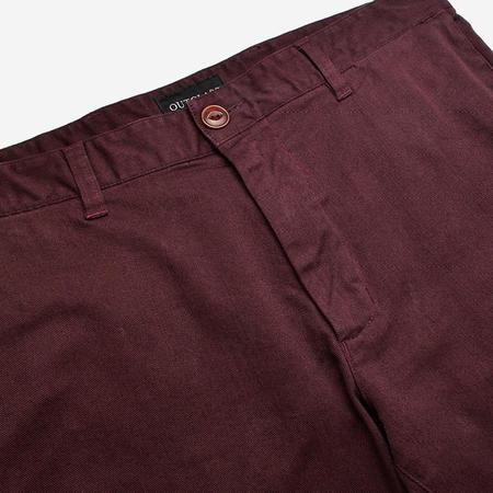 Outclass Garment Dyed Chino Pant - Maroon