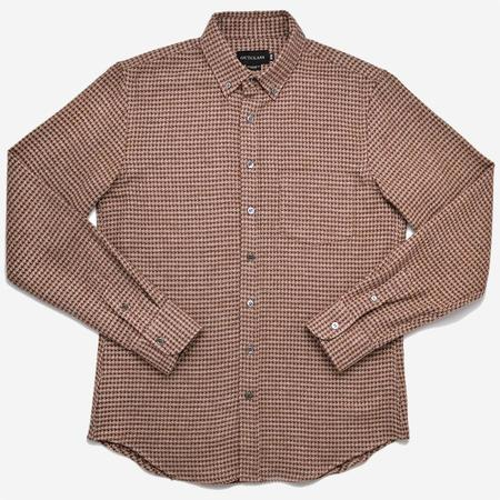 Outclass Houndstooth Flannel Shirt - Camel