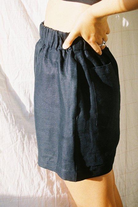 Mimi Holvast Scrunchie Shorts - Black