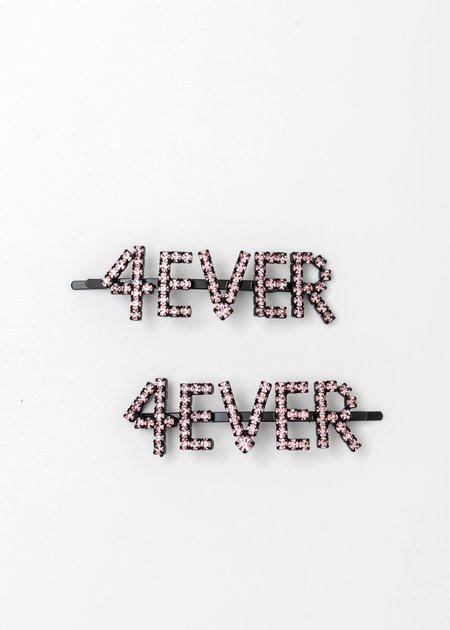Ashley Williams Crystal 4ever Hairpin - Pink