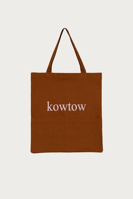 Kowtow Double Pocket Tote - Brass Denim