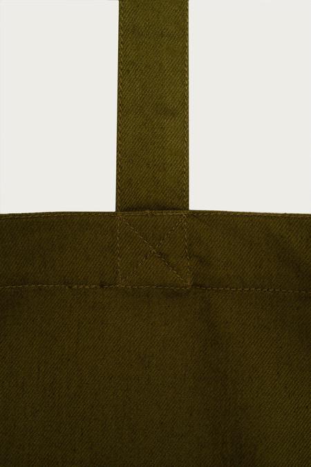 Kowtow Double Pocket Tote - Olive Denim