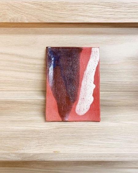 KATE ROSENBERG CERAMICS Plate - Red