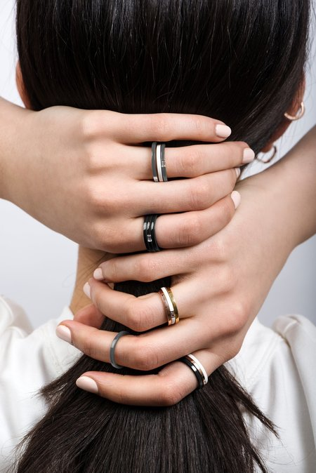 Unisex Hestia Billie Ceramic Ring