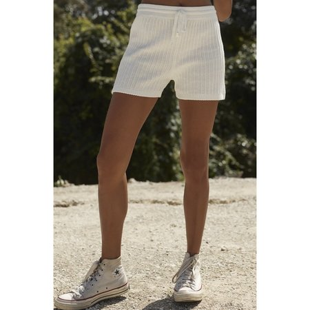 Ruestiic Evy Knit Women's Clothing Boutique Short - White