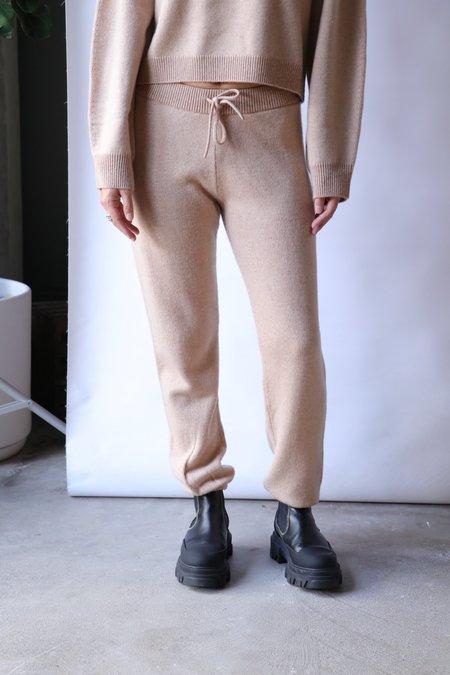 John Elliott Two Tone Cashmere Sweatpants - Camel x Almond