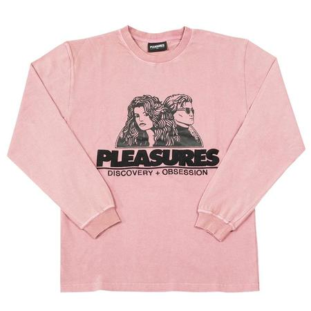 PLEASURES Discovery Heavy Weight Shirt - Washed Pink