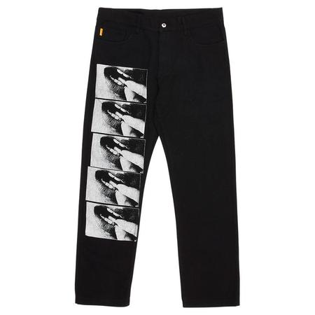 PLEASURES Swallow Denim Jeans - Black