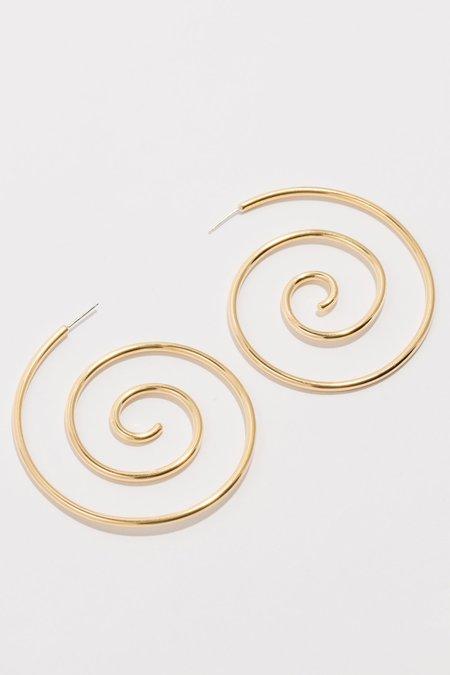 Laura Estrada Jewellery Calla Small Hoops - Brass