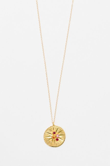 Ale Bremer Chain Painter Round Necklace - Gold