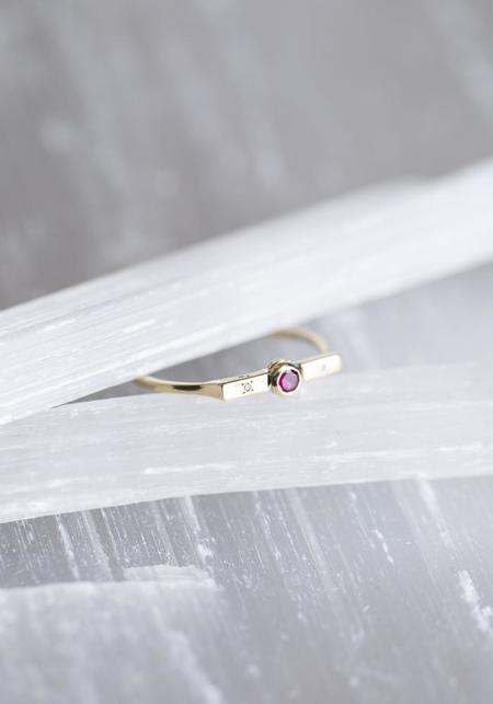 Scosha Diamonds and Ruby Wish Band - 10kt Gold