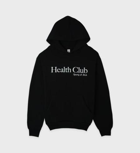Sporty & Rich Health Club Hoodie - Black