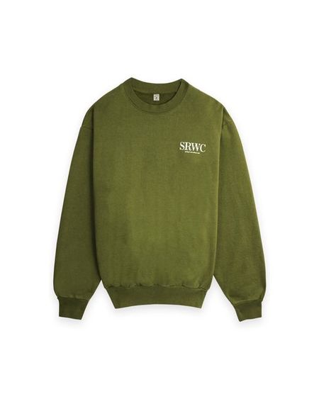 Sporty & Rich Upper East Side Crewneck sweater - Olive
