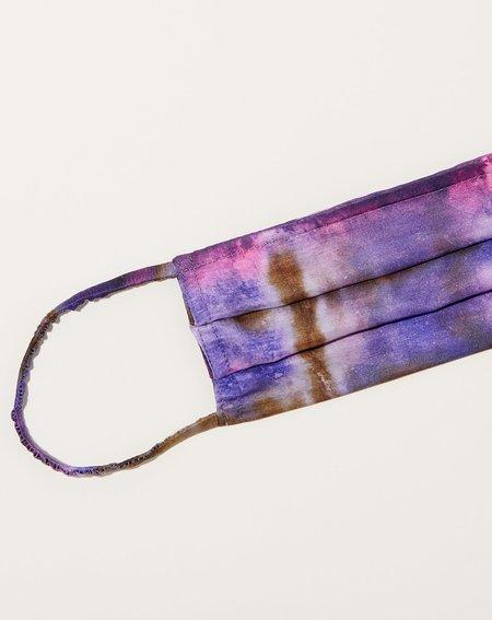 Raquel Allegra Mask - Plaid Tie Dye