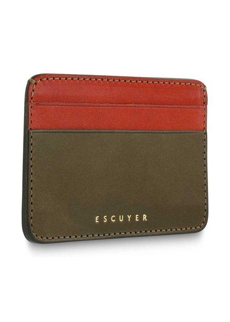 Escuyer Cardholder - Khaki & Orange