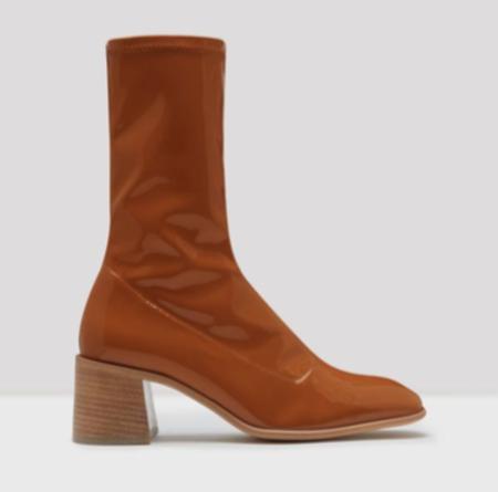 Miista Clea Boots - Tan Stretch Patent