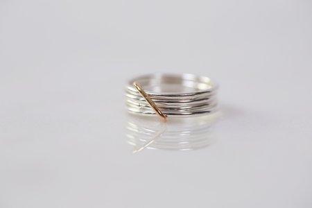 Chertova Fidget Ring - Sterling Silver/14k Gold Filled