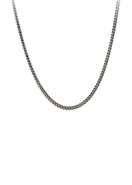 Pyrrha Black Heavy Curb Chain - Silver