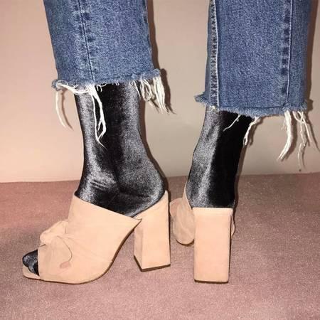 Simone Wild Anthracite Socks - Velvet