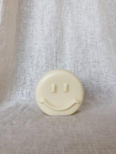 Ri-Ri-Ku  Happy Face Candle - Pale Yellow